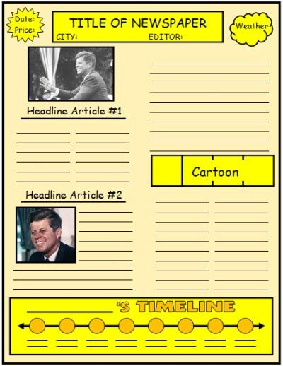 Free Templates to Create Newspapers for your Class ~ Educational - newspaper headline template
