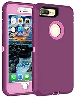 Amazon Com Mxx Iphone 8 Plus Heavy Duty Protective Case With Screen Protector 3 Layers Rugged Rubber Shockproof Protection Co Iphone Iphone Case Covers Case
