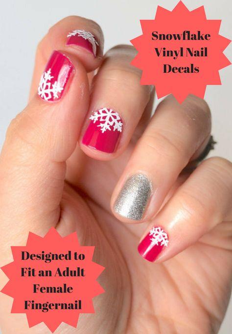 nails These Snowflake Vinyl Nail...