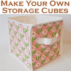 Make Your Own Fabric Storage Cubes Fabric Storage Cubes Fabric Storage Bins Diy Cube Storage