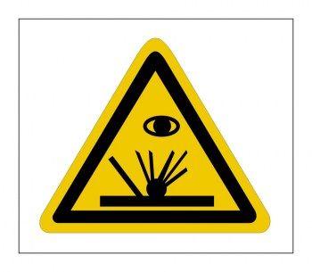 Gefahrenhinweis Schild Funkenflug Schweissfunken Schilder Hinweise Hinweisschilder