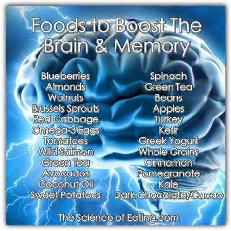 Learn which foods can help to power-up your memory & brain function. Know what to eat to protect your brain, increase alertness and improve recall.