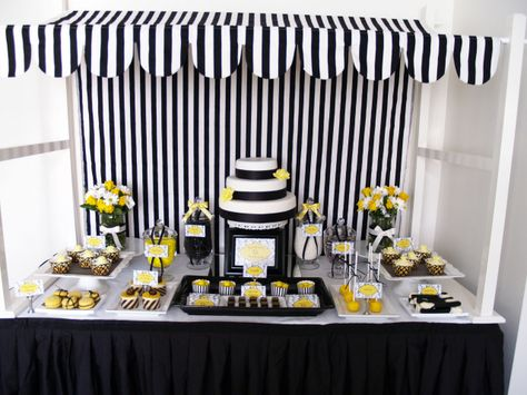 Black White and Yellow Birthday