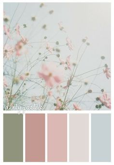 Nice shabby chic combo - good colors for shabby-chic paint