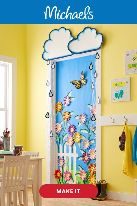April Showers Classroom Door Décor