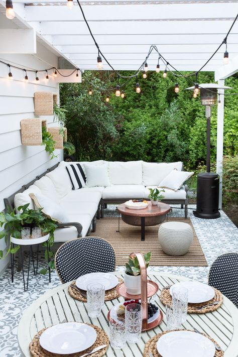 Patio Refresh And Outdoor Family Movie Night Outdoor Patio Decor