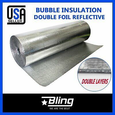 Sponsored Ebay Double Foil Bubble Insulation Heat Reflective Home House Attic Roof Wall Barrier Bubble Insulation Heat Insulation Bubble Foil Insulation