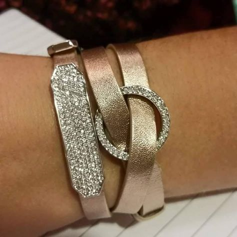 Triple wrap bracelet from Origami Owl in rose gold! No locket, add a window frame and slider.. #whatagreatidea http://jjlockets.origamiowl.com