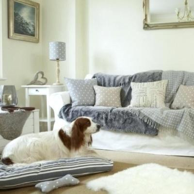 Dog Bed Striped Cushions Sofa