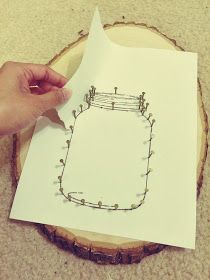 Diy Mason Jar String Art I Have Been Eyeing Up Doing This Craft For