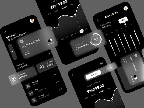 Finance App Dark Theme