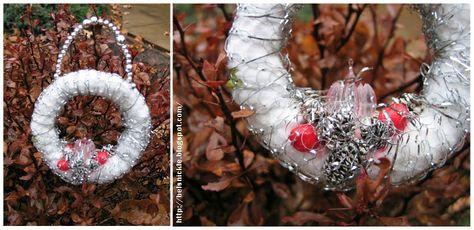 Make This Spun Cotton Antique Looking Wreath | Belznickle Blogspot : Make This Spun Cotton Antique Looking Wreath