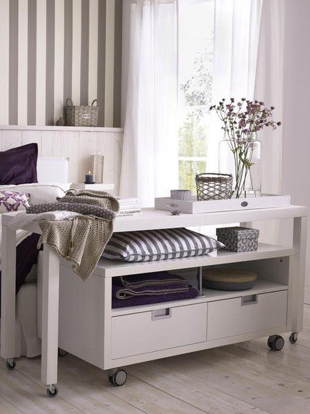 Diy Rolltisch Furs Schlafzimmer In 2020 Rolltisch Schlafzimmer