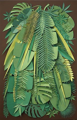 Vegetable mood paper cut Michel Hasson