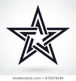 Modern Elegant Star Symbol Star Logo Design Star Tattoos Star Tattoo Designs