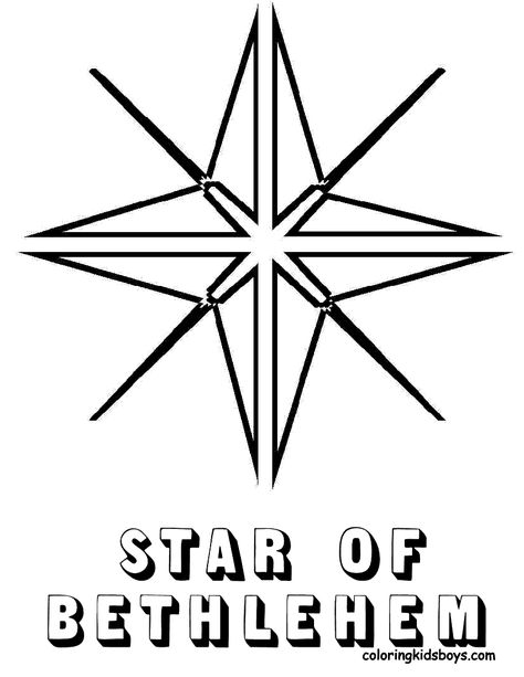 Star Of Bethlehem Star Coloring Pages Christmas Coloring Pages