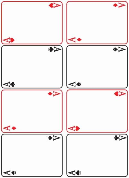 Printable Playing Cards Template Unique 8 Best Of Blank Playing Card Printable Template Fo In 2020 Printable Playing Cards Blank Playing Cards Card Templates Printable