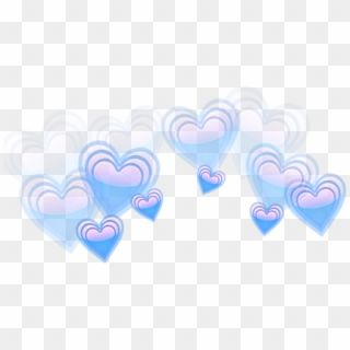 Aesthetic Crown Heart Heartcrown Blue Heart Emoji Transparent Hd Png Download Blue Heart Emoji Heart Emoji Pink Heart Emoji