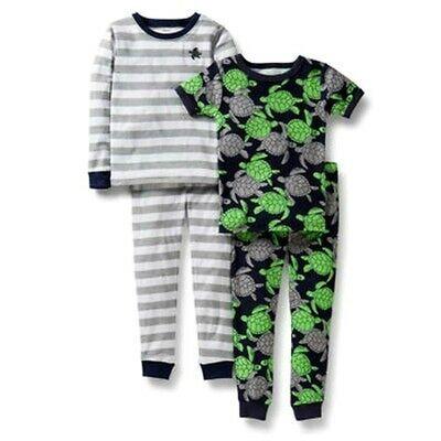 CARTER/'S BABY BOY 4PC TURTLES STRIPE COTTON PAJAMA SET 24M CLOTHES