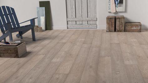 Sol stratifié Quick Step - Largo - Chêne vieilli blanc