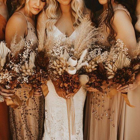 Fall Wedding Colors, Fall Wedding Bouquets, Color Scheme Wedding, Wedding Dried Flowers, Grow Your Own Wedding Flowers, Autumn Wedding Decorations, Wedding Color Palettes, November Wedding Colors, Bohemian Wedding Flowers