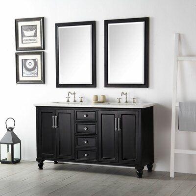 Highland Dunes Downham 60 Double Bathroom Vanity Set With Mirror
