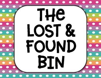 Lost And Found Bin Printable Sign Poster Freebiewhat Is This Resource Are Your Students Always Losing Their Things Us In 2021 Printable Signs Lost Found Sign Poster