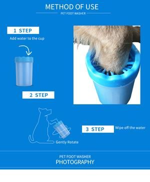 Foot Clean Cup For Dogs And Cats Dog Cat Cats Dog Branding