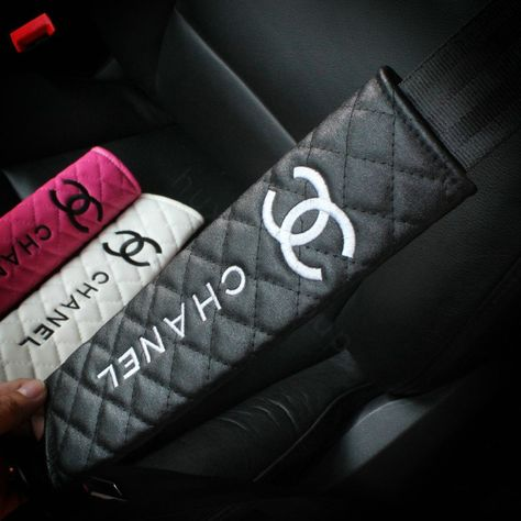 Buy Wholesale Classic Chanel Leather Automotive Seat Safety Belt Covers Car Decoration - Black from Chinese Wholesaler - i-bay. Electric Laundry, Electric Daisy Carnival, Electric Forest, Automotive Carpet, Automotive Group, Automotive Design, Emo Mode, Bling Car Accessories, Car Interior Decor