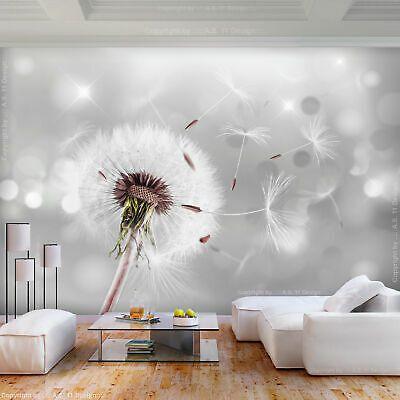 VLIES FOTOTAPETE grau Blumen Tapete XXL Vliestapete