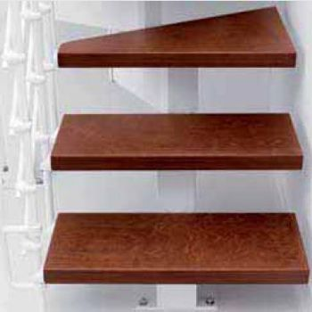Escalier En L Metal Et Bois Magia 90xtra L 70 Cm 10 Marches Blanc