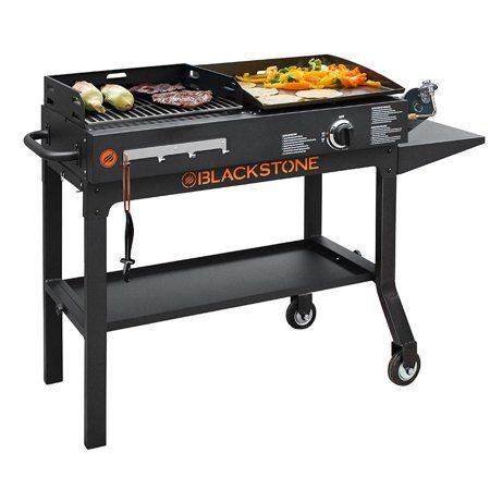 Blackstone Duo 17 Griddle And Charcoal Grill Combo Walmart Com Griddle Grill Charcoal Grill Blackstone Griddle
