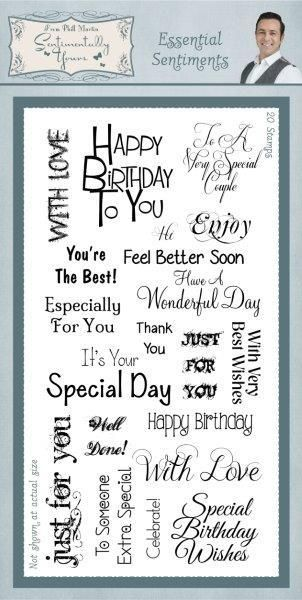 Sentimentally Yours Essential Festive Sentiments Clear Stamp Set Phill Martin