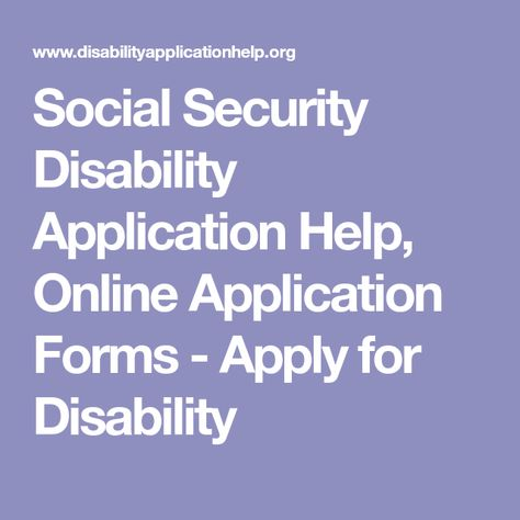 Social Security Disability Application Help Online Application