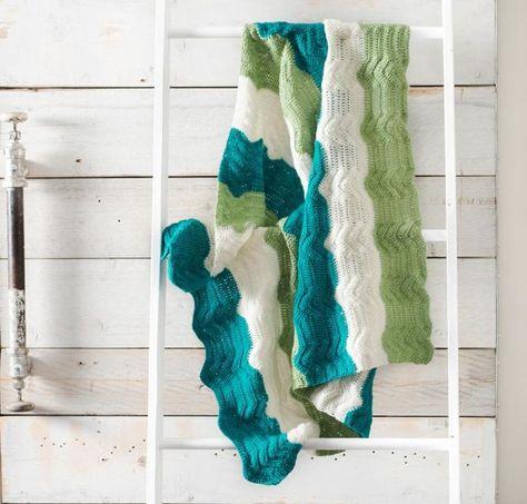 Crested Bands Baby Blanket Crochet Kit | Baby Stuff | Pinterest
