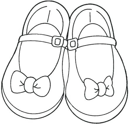 Free Girls Shoes Coloring Pages To Printable Coloring Girls Shoes