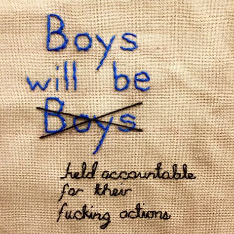 """How That """"Boys Will Be Boys"""" Embroidery Became the Internet's Response to Harvey Weinstein"""