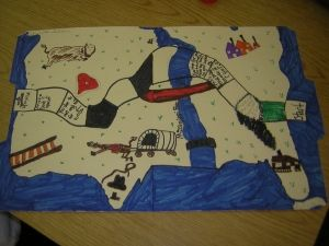 """This is a great activity you can play with the students. After they learn about what the travelers west had to deal with moving west they can make their own game similar to the idea of """"Oregon Trails"""""""