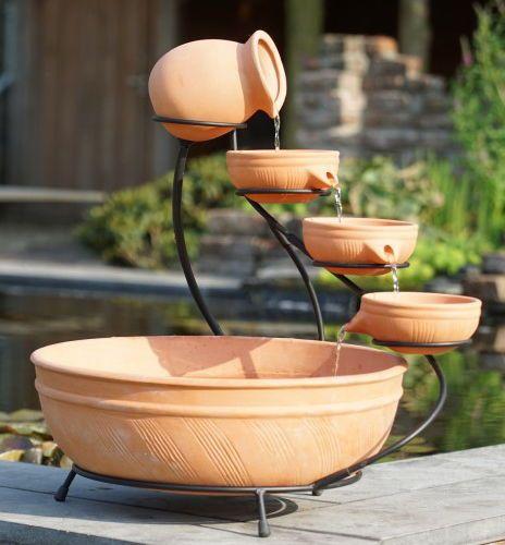 Terracotta Brunnen Denia Online Kaufen Bei Zaun24 Schauen Sie Doch Mal Vorbei Zaun24 Der Online Shop Fur Hoc Terrakotta Wasser Im Garten Terrassenbrunnen