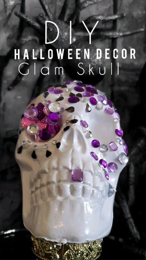 DIY Halloween Decor  Glam Skull