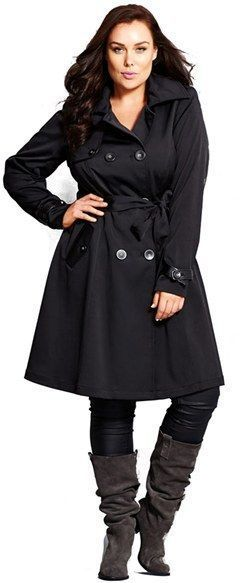 new items stylish design official sale Plus Size Trench Coat #plussizecoatspolyvore | Dresses in ...
