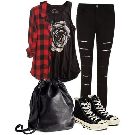 My Outfit if I Could go to Vans Warped Tour # punk Fashion Designer Clothes, Shoes & Bags for Women Scene Outfits, Edgy Outfits, Mode Outfits, Grunge Outfits, Fall Outfits, Fashion Outfits, Cute Punk Outfits, Floral Outfits, Flannel Outfits