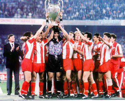 дан кад се небо отворило црвена звезда постала првак европе за сва времена Red Star Belgrade Uefa Champions League Football Casuals