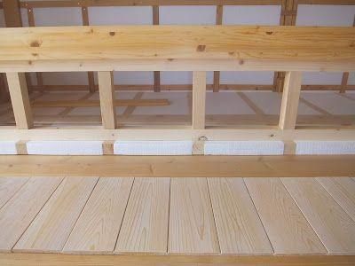 木陰手探りdiy 小上がりの完成した枠組みに取り付ける為の 羽目板