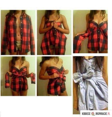 nowy styl życia gorące wyprzedaże dobry Sukienka z koszuli | Samodzielnie zrobione ubrania, Stare ...