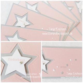 Wwwstempelfixblogspotde Einladung Taufe Sterne
