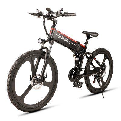 Samebike Lo26 350w Motor Folding Electric Bike 48v 10ah Battery