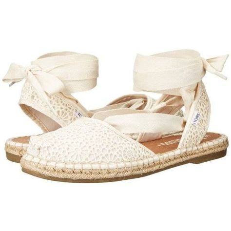 13b7c6c0c Toms-Women-Natural-Moroccan-Crochet-Cream-Bella-Lace-Up-Espadrille-US-8-NWB