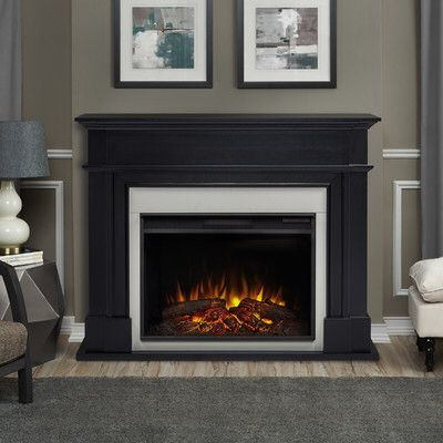 Harlan Grand Electric Fireplace Electric Fireplace Grey