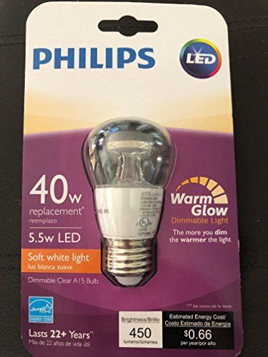Philips 40w Equivalent Soft White Clear Multipurpose A15